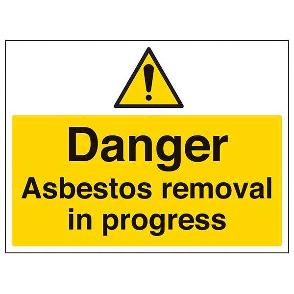 Danger Asbestos Removal In Progress Large Landscape