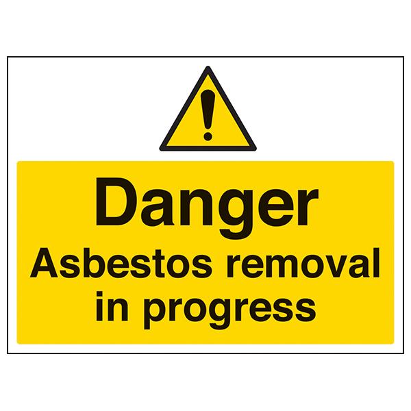 Danger Asbestos Removal In Progress Large Landscape