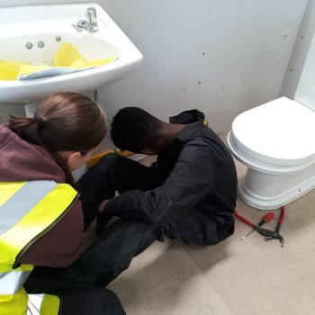 Chantry Students Bathroom Instalation Training