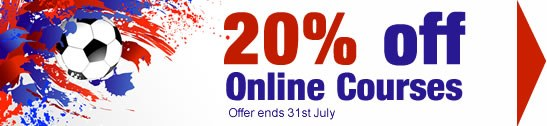 Sale on online training courses