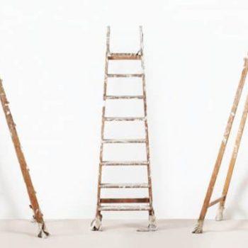 White Paint Wooden Ladder 724x397
