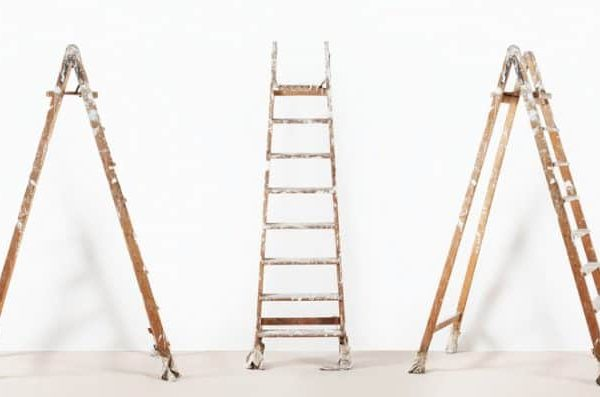 White Paint Wooden Ladder 724x397