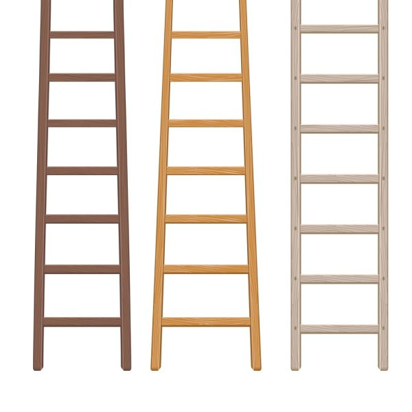 Wooden Ladder Set Vector 18054842
