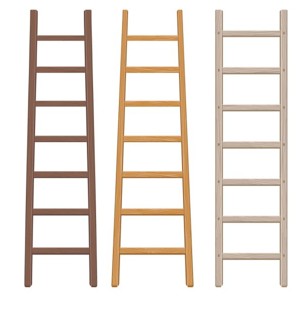 Wooden Ladder Set Vector 18054842
