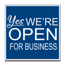 Yes We Are Open Eng Sign